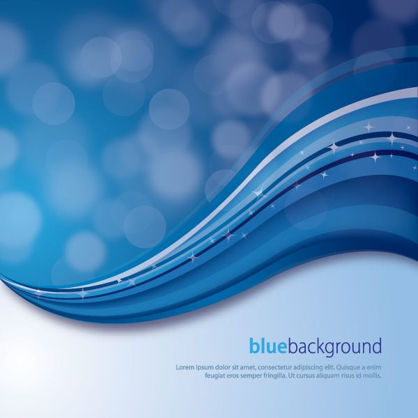 600x600 Magical Blue Background, Vector Graphic By