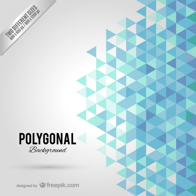 626x626 Blue Polygonal Background Vector Free Download