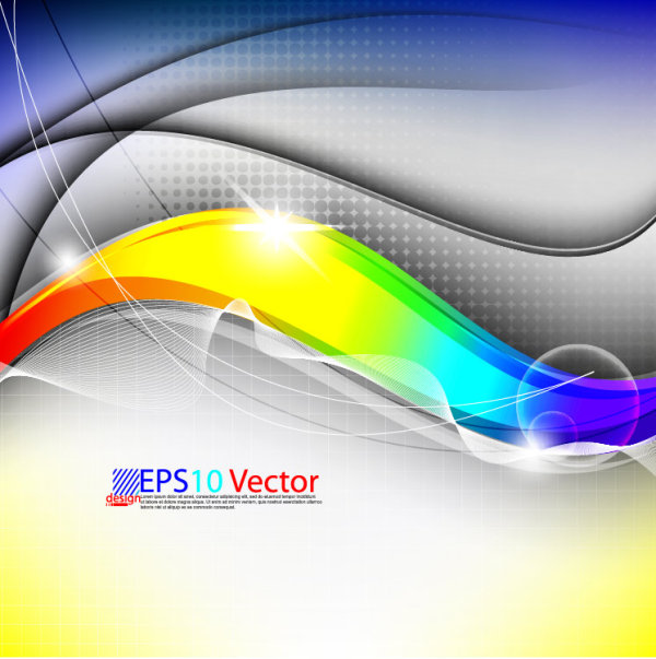 600x603 Colorful Abstract Background Graphic Vector Set 01 Free Download
