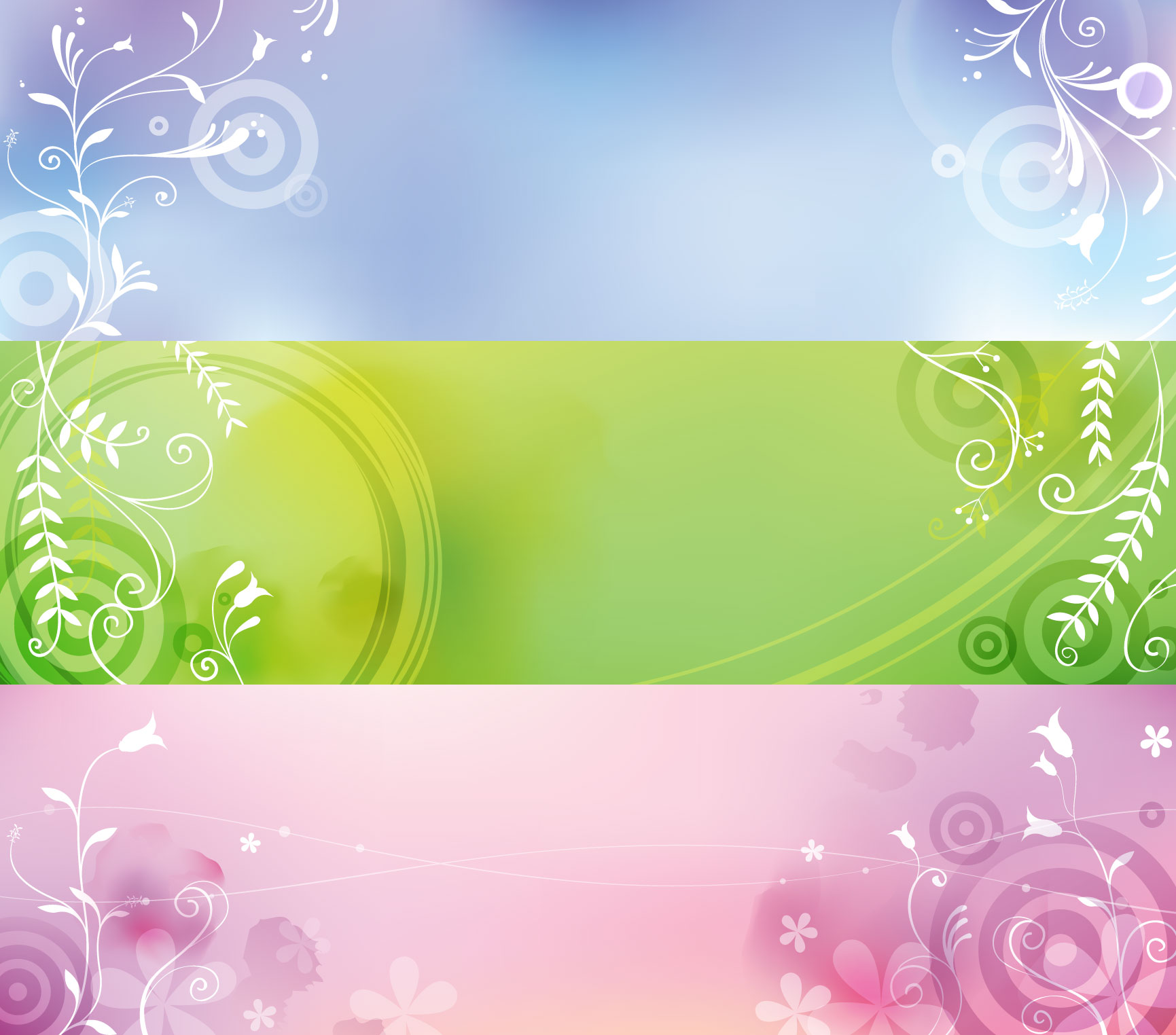 1731x1524 Download Free Elegant Plant Banners Vector Graphic Template