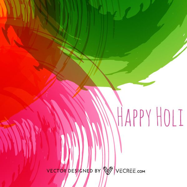600x600 Vector Graphics Backgrounds Colorful Happy Holi Background Free