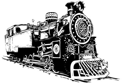420x287 Black And White Locomotive Vector Free Vector Graphics All