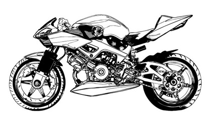 420x225 Black And White Motorcycle Vector Free Vector Graphics All