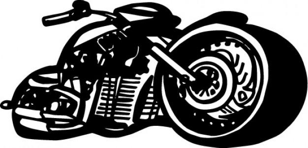 626x301 Black Motorbike Vector Graphics Stock Images