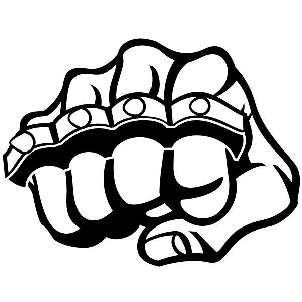 600x600 Fist And Knuckle Vector Graphics By Vectorportal