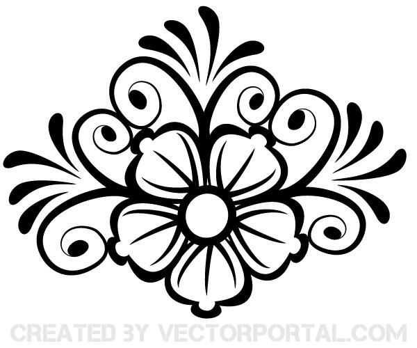 600x500 Free Flower Ornament Vector Art Psd Files, Vectors Amp Graphics