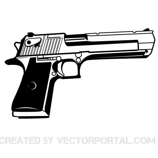660x660 Handgun Vector Graphics