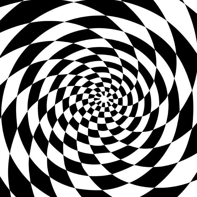 650x650 Black And White Whirl Vector Graphics