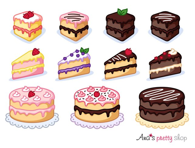 642x489 Cake Clipart Piece Of Cake Clipart Bakery Clipart Pastry Etsy