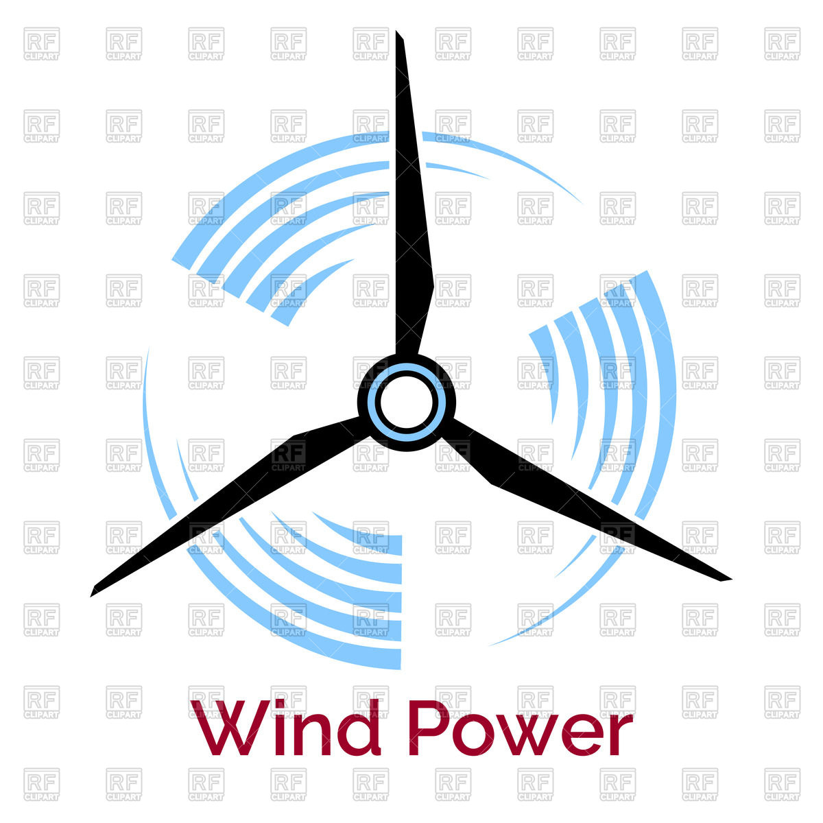 1200x1200 Company Logo With Wind Turbine And Slogan Wind Power Vector