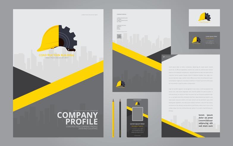 784x490 Construction Logos In Stationery Set Media. Construction Company