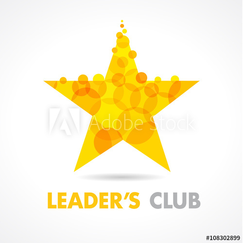 500x500 Leaders Club Star Logo. Vector Graphic Gold Symbol For Company