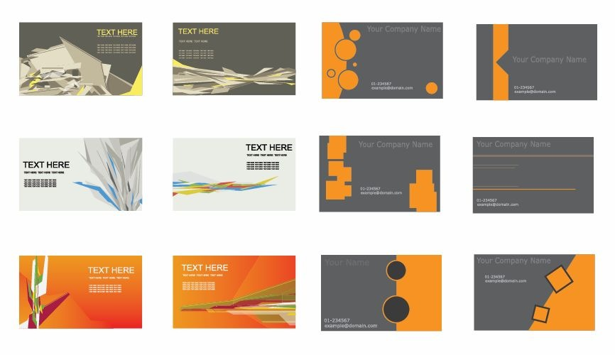 866x500 Set Of Business Cards Vector Free Vector Graphics All Free Web