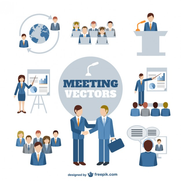 626x626 Business Meeting Characters Vector Free Download