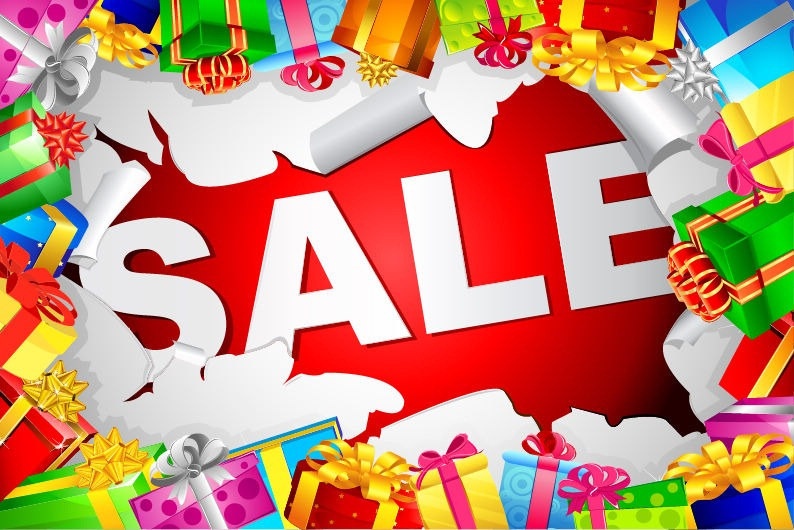 794x530 Christmas Sale Vector Illustration Free Vector Graphics All