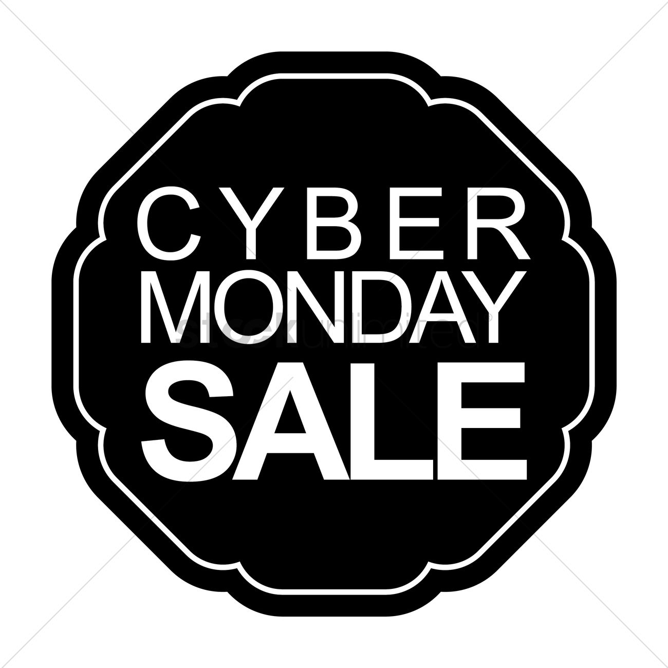 1300x1300 Cyber Monday Sale Label Vector Image
