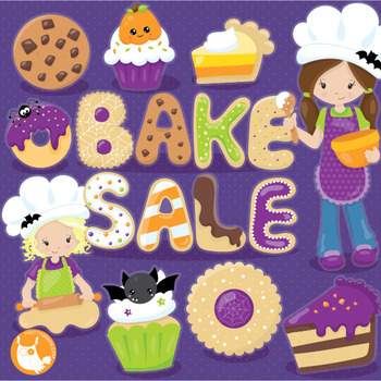 350x350 Halloween Bake Sale Clipart Commercial Use, Vector Graphics