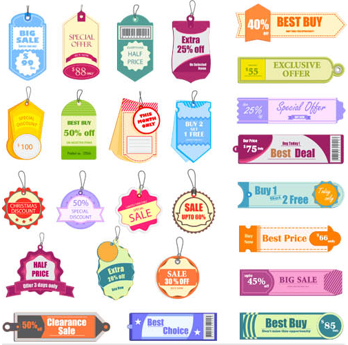 505x500 Sale Stickers Vector Graphic Ai Format Free Vector Download