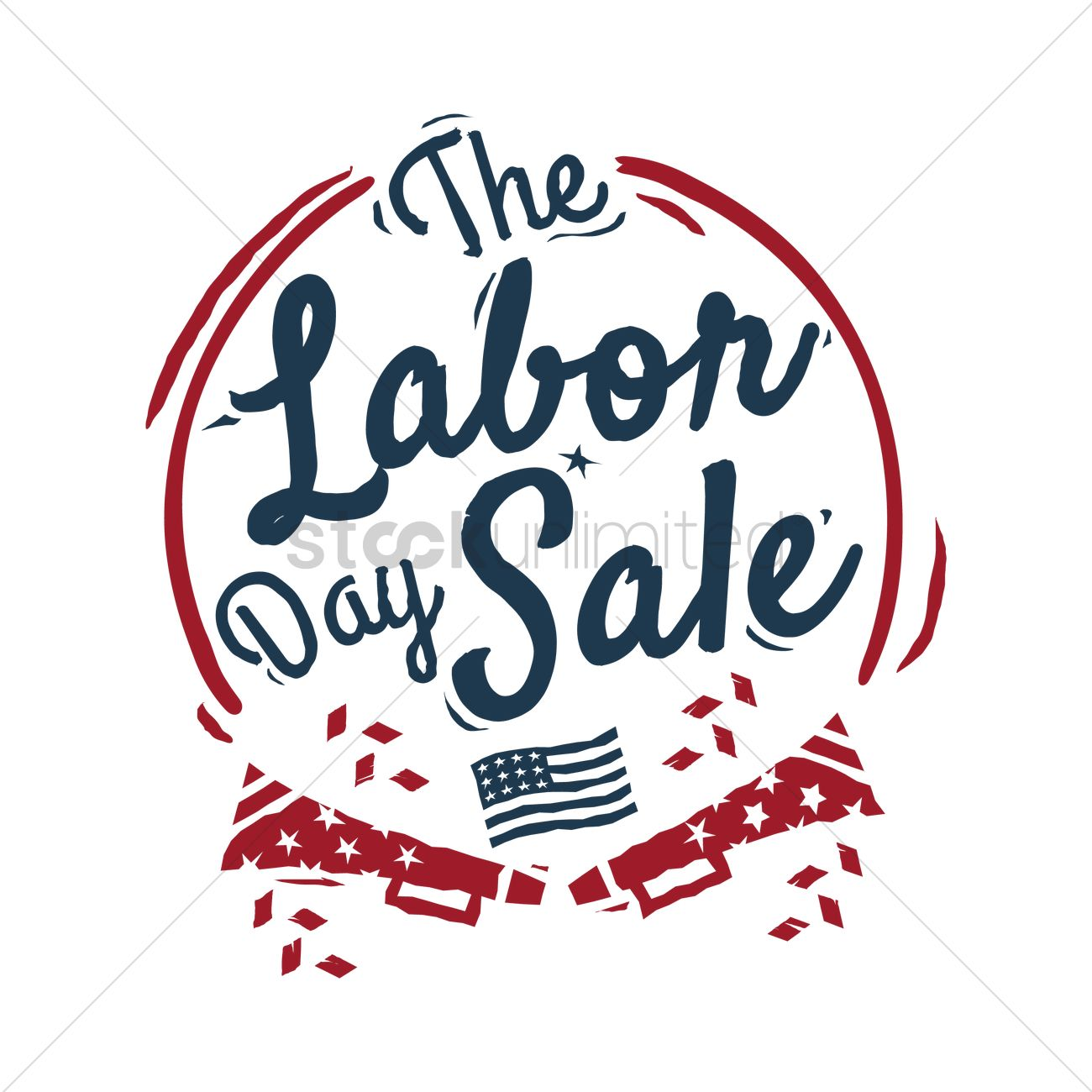 1300x1300 Us Labor Day Sale Vector Image