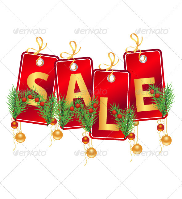 590x647 Christmas Sale Tag By Vectorgraphics Graphicriver