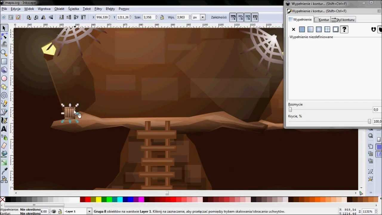 1280x720 Vector Graphic Making Game Level