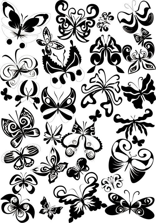 500x714 Decorative Butterflies Vector Vector Graphics Blog Wall Art