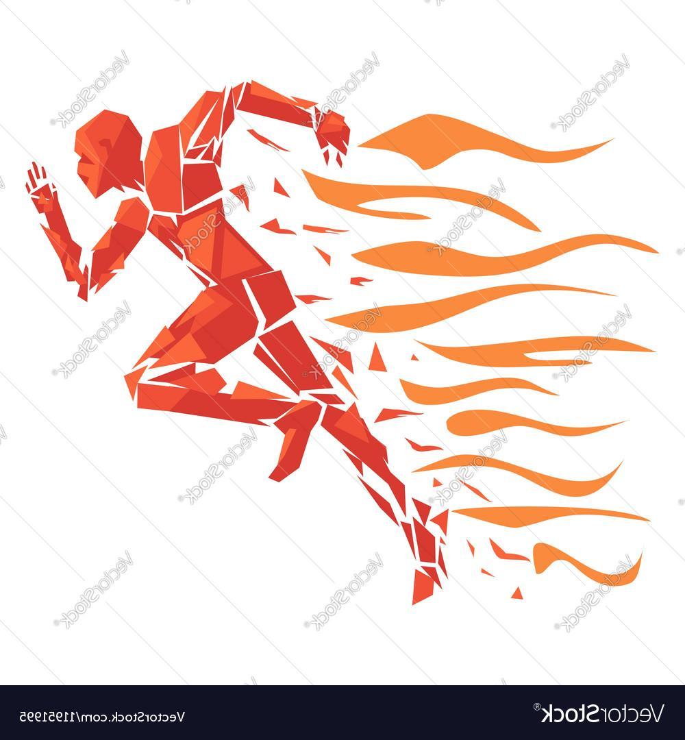 1000x1080 Top Fire Running Man Vector Drawing