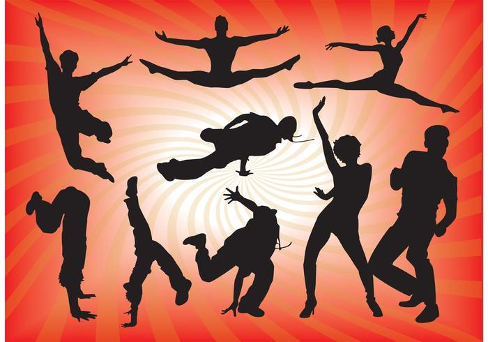 700x490 Dancing People Vector Graphics