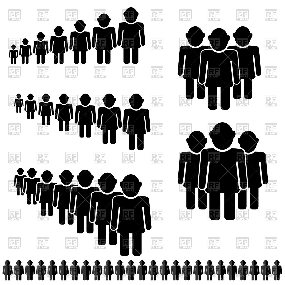 1200x1200 People Icon Set Vector Image Vector Artwork Of People Valeo5