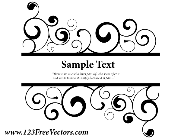 600x460 Free Vector Ornate Swirl Banner Psd Files, Vectors Amp Graphics
