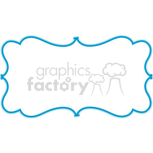 300x300 Royalty Free Blue Lines Frame Swirls Boutique Design Border 9