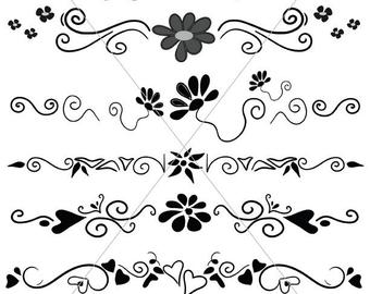 340x270 Scalabe Vector Graphics Divider Lines Fancy Swirls