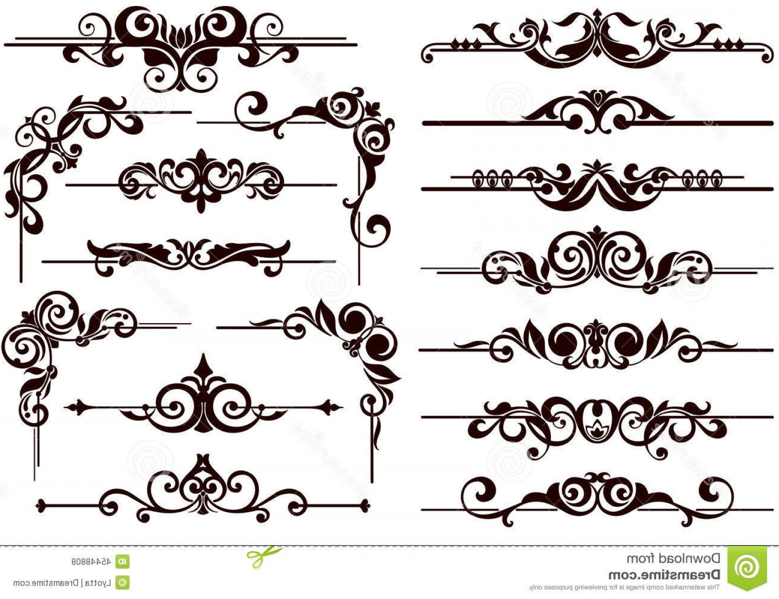 1560x1201 Stock Illustration Vector Ornaments Frames Corners Borders Vintage