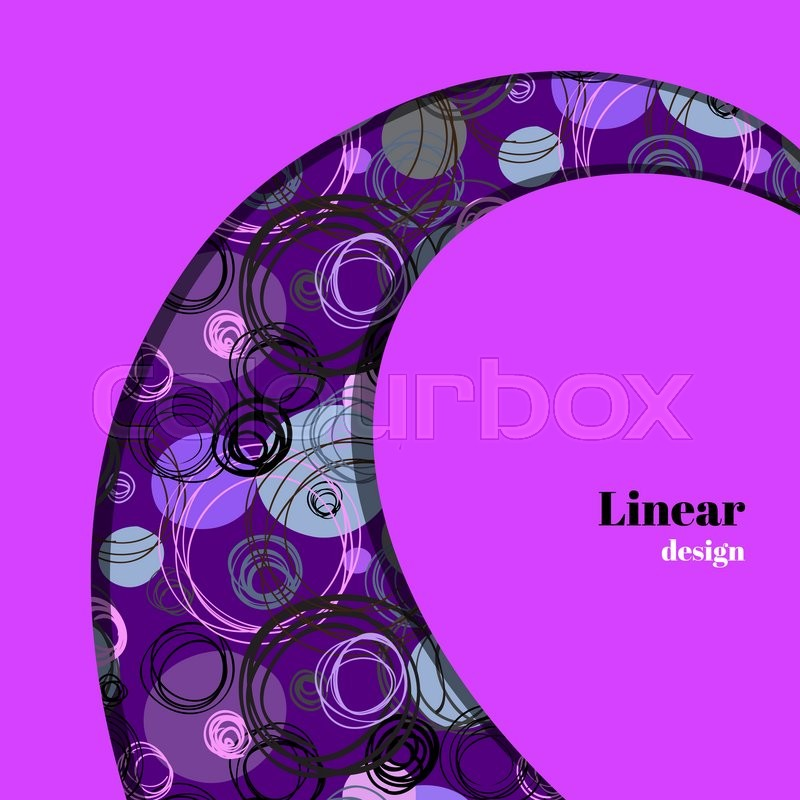800x800 Swirl Border Design. Black Purple Pink Blue Hand Drawn