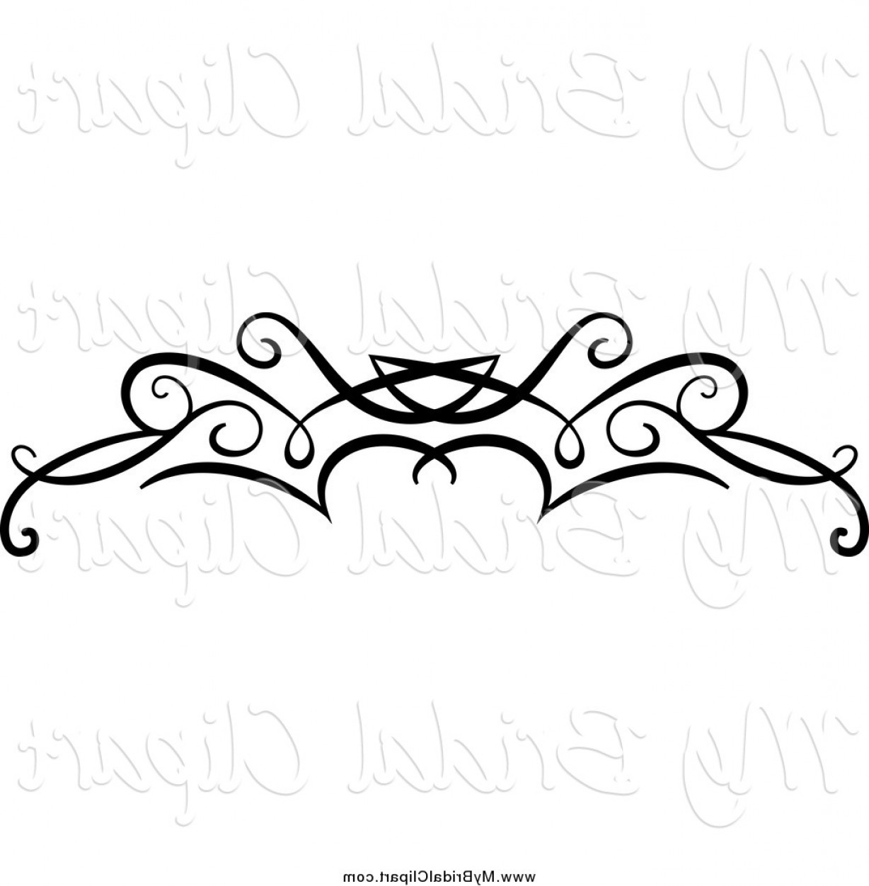 1228x1252 Bridal Clipart Of A Black Swirl Border Flourish By Vector