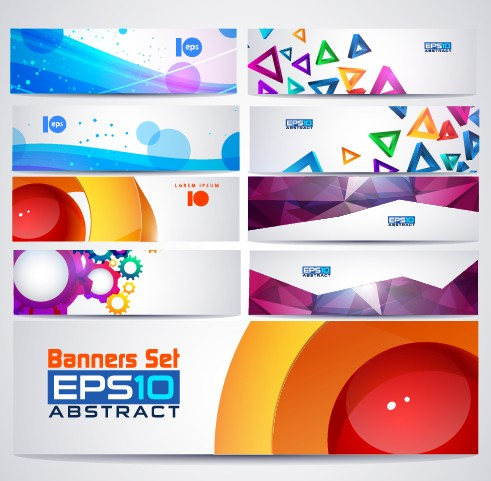 491x481 Abstractr Colored Web Banner Vector Graphics 03 Free Download