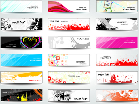 474x355 Huge Collection Of Modern Website Benner Vector Graphic Free