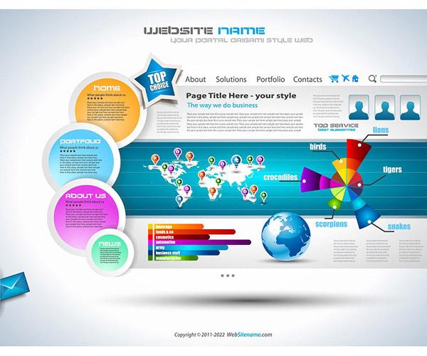 600x500 Vector Artistic Infographics Website Templates On Behance