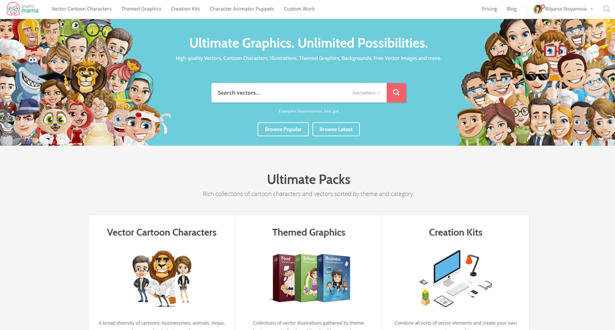 1239x664 16 Great Sources For Free Vector Cartoon Characters Graphicmama Blog