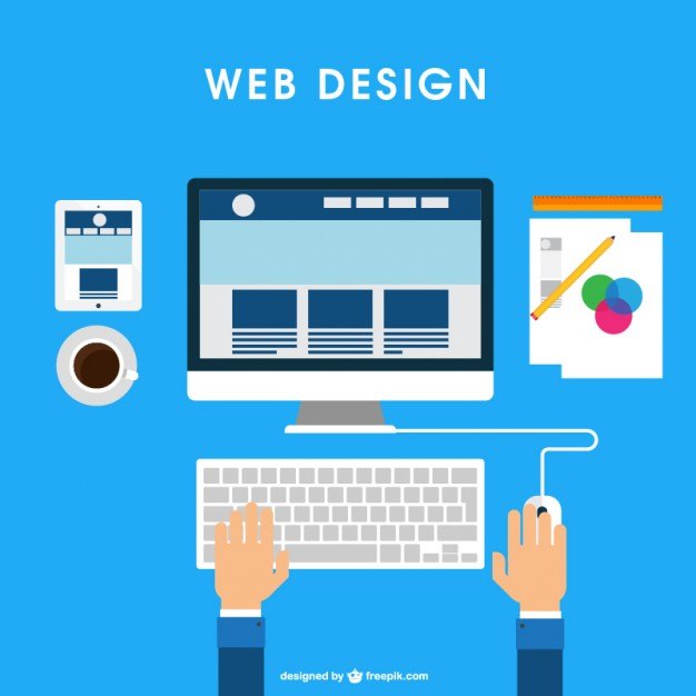 626x626 Web Design Desk Vector Free Download