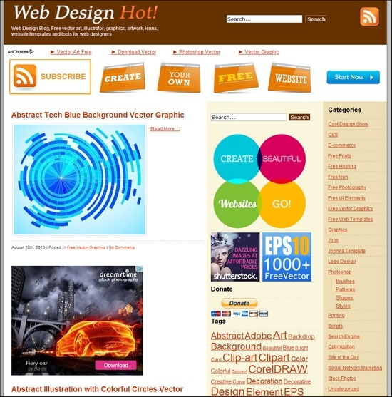 550x557 Best Websites For Finding Free Vector Graphics And Design Elements