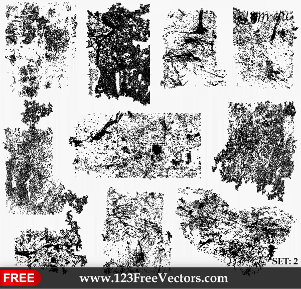 600x575 Free Grunge Texture Illustrator Set 2 Psd Files, Vectors