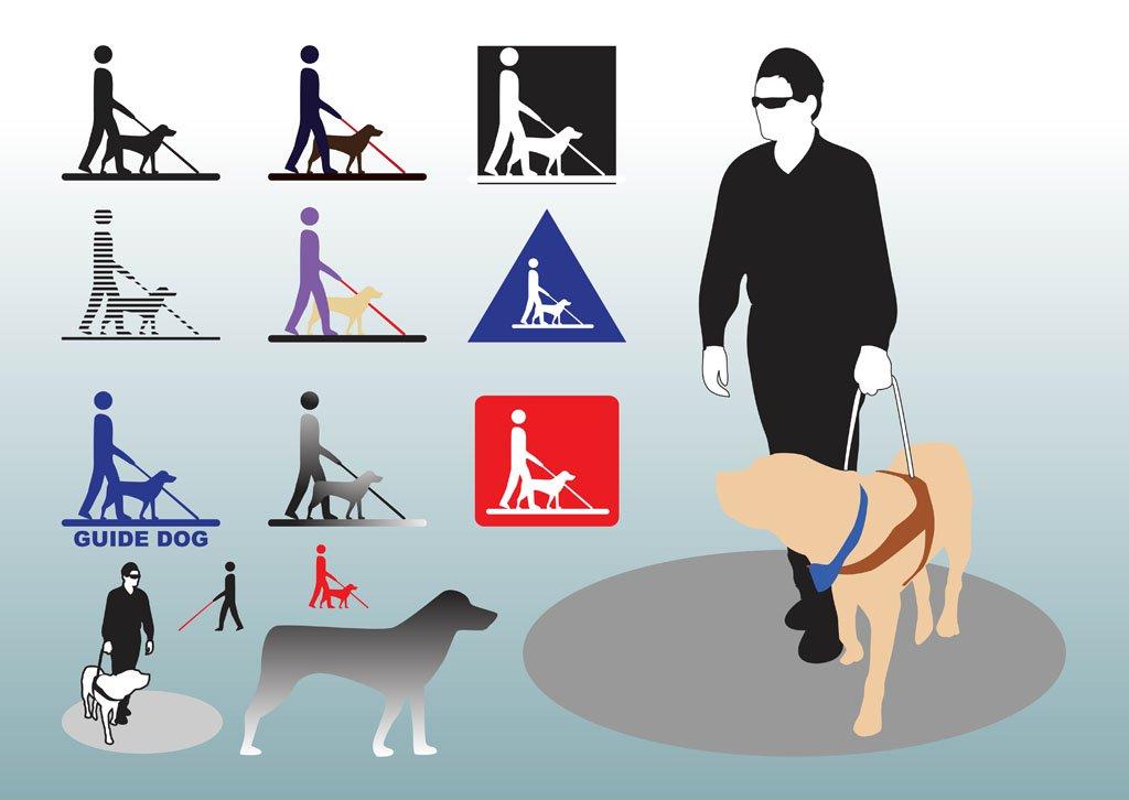 1024x726 Guide Dog Vectors Vector Art Amp Graphics
