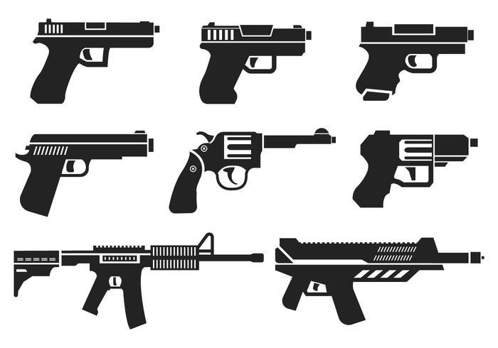 700x490 Guns Icons Vector