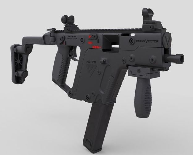 625x500 Kriss Vector Smg Gun 3d Assault Cgtrader