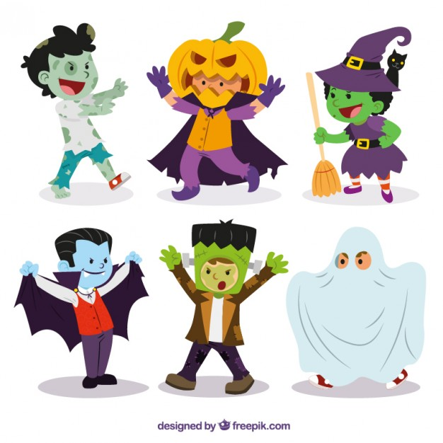 626x626 Funny Kid Costumes Vector Free Download