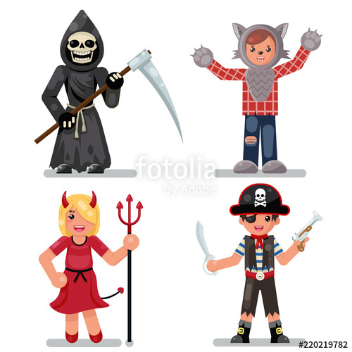 500x500 Halloween Costume Children Masquerade Party Kids Characters Icons