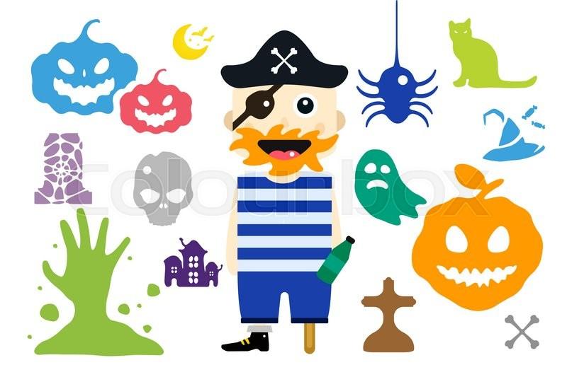 800x533 Set Of Halloween Costume Characters, Vector Halloween Mascots