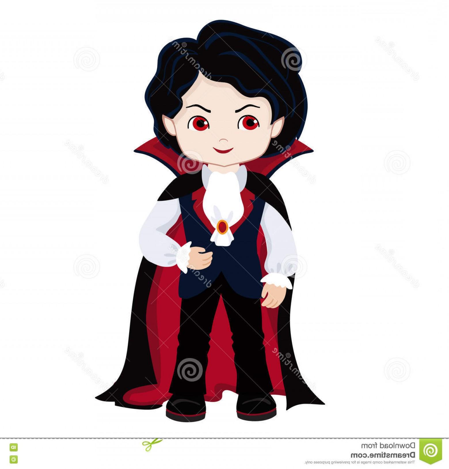 1560x1628 Stock Illustration Funny Cartoon Little Vampire Boy Wearing