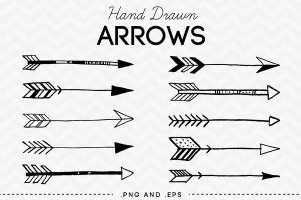 600x400 Hand Drawn Arrows Clip Art Vector By Azmaridigitals On Creative